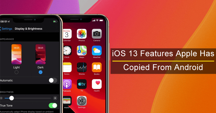 Top 7 iOS 13 Features That Apple Has Copied From Android